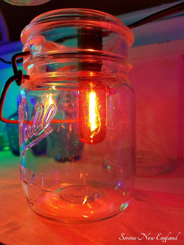 Vintage Christmas Lights Edison Bulbs Mason Jars Bottles (3)