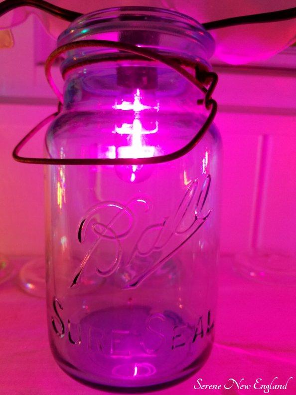 Vintage Christmas Lights Edison Bulbs Mason Jars Bottles (8)