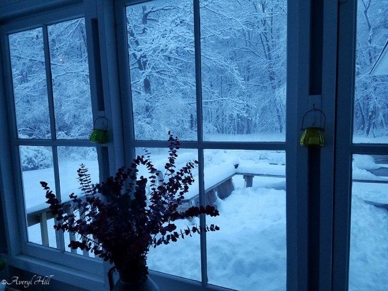 Snowfall at Daybreak in Maine (1)