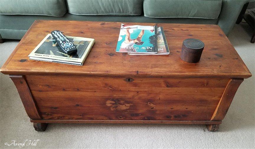 Antique cedar chest coffee table